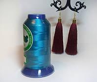 Нитки для машинной вышивки Peri, полиэстер 120D/2, 3000 ярдов, цвет 3337 аквамарин