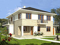 Проект двухэтажного дома Hd-32