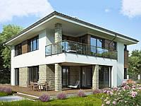 проект двухэтажного дома Hd33