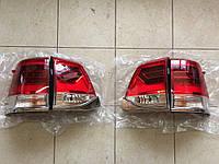 Фонари задние (стиль 2016) Toyota Land Cruiser 200 дымчатые