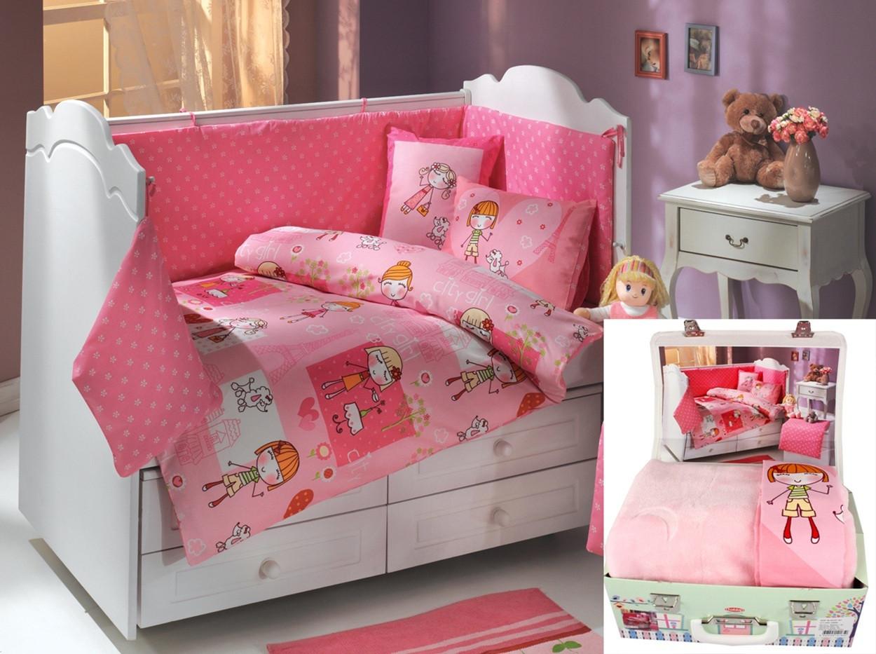 Комплект детского постельного белья с пледом City girl, Hobby