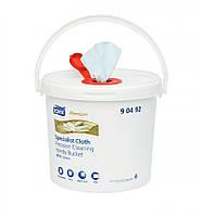 Нетканый протирочный материал в ведре Tork Premium для очистки