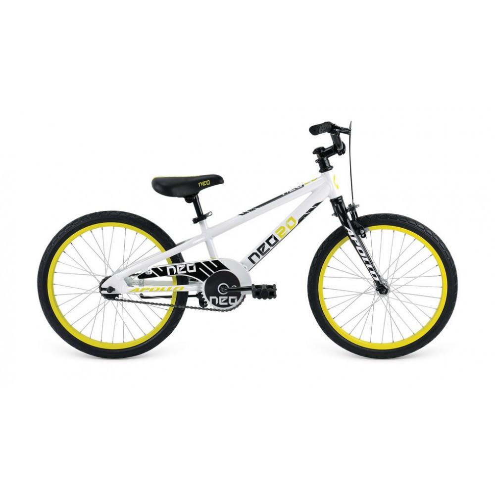 """Велосипед 20"""" Apollo Neo boys Gloss White/Gloss Black/Gloss Lime"""
