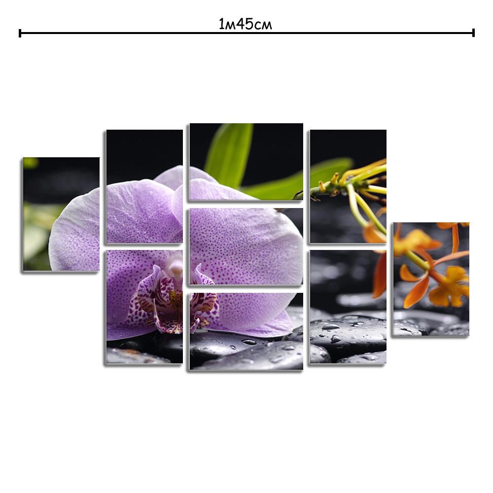 Модульная картина в гостиную с принтом Орхидея