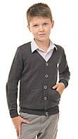 Кофта для мальчика подростка  на пуговицах осень-весна