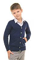 Кофта для мальчика подростка для школы на пуговицах осень-весна