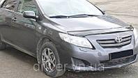 Дефлектор капота (мухобойка) Toyota Corolla 2007-2012, на крепежах