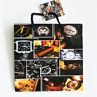 Подарочный пакет ЧАШКА 16х16х7,5 Часы