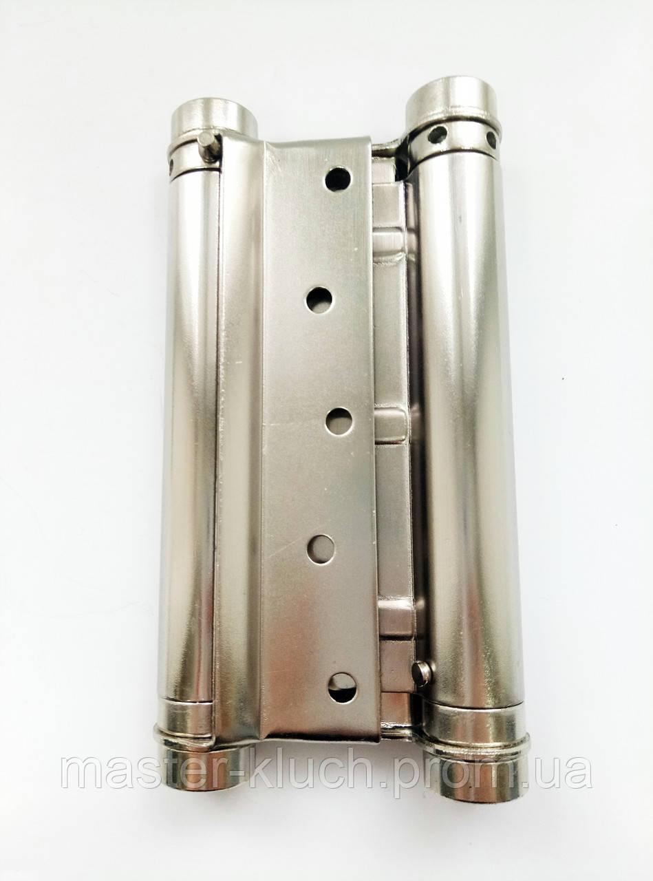 Петля  барная 125*70*1.5 никель