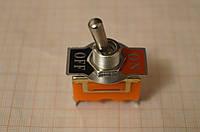 Переключатель, тумблер 250V, 15А, on-off, двухпозиционный