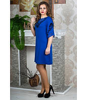Стильное женское  платье Юлия электрик  Olis-Style 46-50 размеры