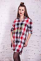 Брендовая женская клеточная рубашка 2017 - (код руб-1), фото 1