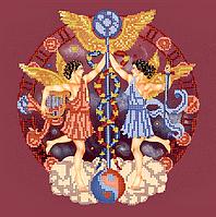 Схема для вышивки бисером Близнецы, размер 25х25 см