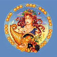 Схема для вышивки бисером Дева, размер 25х25 см