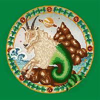 Схема для вышивки бисером Козерог, размер 25х25 см