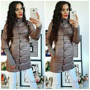 Куртка удлинённая с рукавами вязка , фото 2