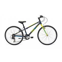 """Велосипед 24"""" Apollo Neo boys Geared Gloss Charcoal/Gloss Lime/Gloss Blue"""