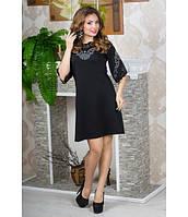 Стильное женское черное  платье Юлия  Olis-Style 46-52 размеры
