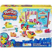 Набор для творчества и пластилин Город: Магазинчик домашних питомцев Play-Doh Town B3418