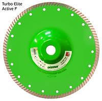 Отрезной алмазный диск с фланцем по граниту Distar 230мм 22,2мм Elite Active