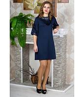 Стильное женское синее  платье Юлия  Olis-Style 46-50 размеры