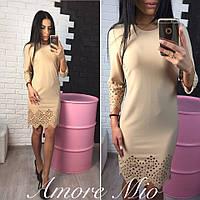 Красивое стильное платье (4 цвета)