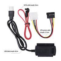 Кабель переходник для подключения винчестеров 2,5(IDE и SATA) и 3,5(IDE и SATA) к USB, фото 1