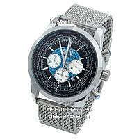 Часы Breitling Transocean Chronograph Unitime silver/black. Класс: ААА.