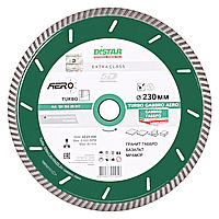 Алмазный диск по граниту габбро Distar 230мм 22,2мм Turbo Gabbro Aero