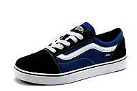 Кеды Vans Old Skool, мужские, текстиль, черно-синие, р. 43 44 46