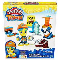 Набор для творчества и пластилин Город: Дорожный рабочий Play-Doh Town B3411