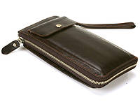Мужской клатч с карманом для телефона из натуральной кожи