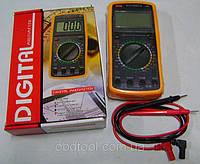 Цифровой мультиметр тестер c большим экраном DT-9205A
