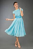 """Стильное платье жаккард """"Elizabeth"""" с карманами и со съемным поясом (4 цвета)"""
