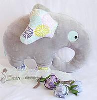 Подушка Слон серый HANDMADE