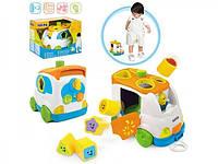 Игра игрушки сортеры +для малышей Машинка 2в1, каталка-сортер 2071