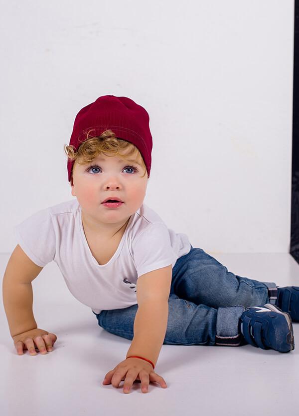 Детская шапка КОСТА для мальчиков оптом размер 44-46-48