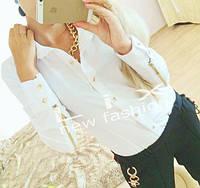 Блузка с молниями на рукавах 195грн