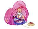 Палатка кемпинг куклы Беби Борн игровой набор Baby Born Zapf Creation 823743, фото 3