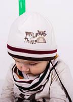 Детская шапка ТИТО(набор) для мальчиков оптом размер 44-46-48, фото 1