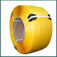 Лента полипропиленовая 16х0,8мм (1300м) желтая