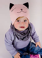 Детская шапка ПЕПИТА (набор) для девочек оптом размер 44-46-48