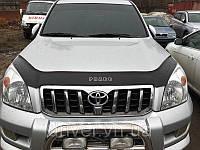 Дефлектор капота (мухобойка) Toyota Land Cruiser Pradо 120 2003-2008 (без клыков), на крепежах