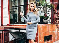 Женское трикотажное платье футляр