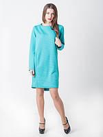Женское стильное теплое платье Синди синего цвета
