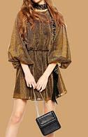 Женское короткое Платье Золотая Молодеж