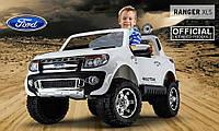 Детский электромобиль FORD RANGER F-150 двухместный белый***