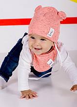Детская шапка ПАКО (набор) для девочек оптом размер 42-44-46