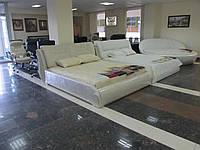 Кожаная кровать Серджио