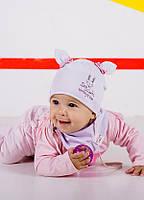 Детская шапка ФАБИ (набор) для девочек оптом размер 42-44-46